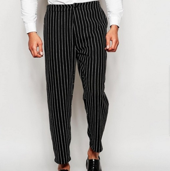 Asos Pants Mens Nwt Pinstripe Trousers D11 Poshmark